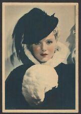 Abdulla Cigarettes 1934 postcard size card Anna Sten silent movie star