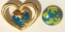 2 Earth Day - Love Mother Earth- Environmental Lapel Pins