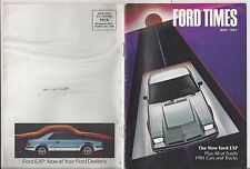 Ford Times May/81 1981 New Fords Review EXP T-Bird LTD Mustang Granada News
