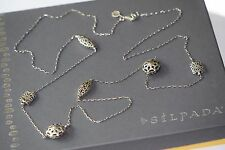 """Silpada Long """"First Flurry"""" Etched Bead Necklace Sterling Silver 36"""" N2429"""