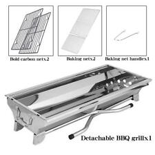 Foldable Stainless Steel Barbecue Charcoal Grill Outdoor Camping Picnic Home BBQ