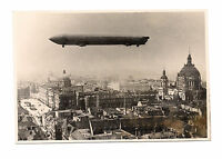 RARE ANTIQUE GRAF ZEPPELIN 29.8.1909 ZR VI FLIGHT OVER BERLIN PHOTO