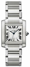 Cartier Men's W51002Q3 Tank Francaise Stainless Steel Automatic Swiss Watch