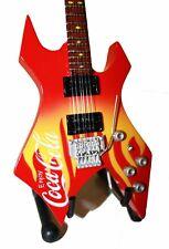 Miniature Guitar COCA COLA with free stand COKE