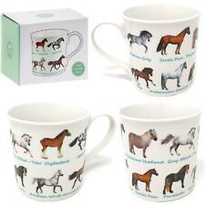 Horses Animal Breeds Horse Riding Fine China Tea Cup Coffee Mug Gift