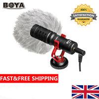 BOYA BY-MM1 3.5mm Cardioid Microphone Mic for Canon Nikon Sony iPhone Samsung UK