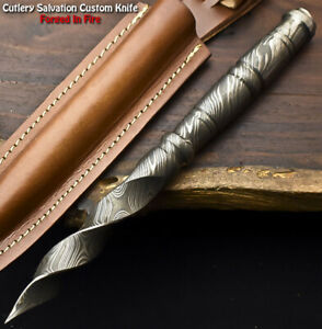 Rare Custom Hand Made Damascus Steel Kris Blade Dagger Knife | Damascus Steel