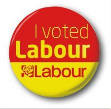 I VOTED LABOUR - 1 inch / 25mm Button Badge - Protest Left Election