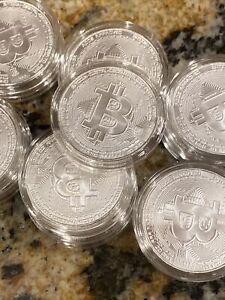 """Bitcoin Silver Coin 2020 Chad Crypto Series """"Bitcoin"""" 1 oz Silver BU"""