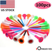 "Plastic Golf Tees 100 Pcs Rubber Cushion Top Multi-colored Pro 2 3/4"" 3 1/4"""
