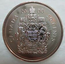 2000W CANADA 50 CENTS PROOF-LIKE HALF DOLLAR COIN