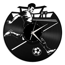 Football Vinyl Wall Clock Sports Lovers Unique Gift Home Room Decoration