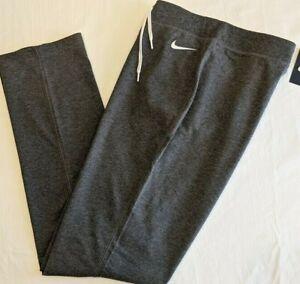 NIKE SPODNIE JERSEY OPEN HEM SWEATPANTS PANTS - Women's XL Gray Heather NWT