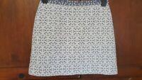 Topshop Floral A Line Mini Skirt Size 10