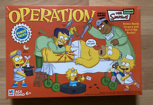 Still Sealed! 2005 MB Operation: The Simpsons Edition Board Game