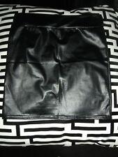 Imitation Leather Skirt