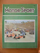 Motor Sport Magazine F1 Sports Road & Historic Cars Issue May 1979 Classic Car