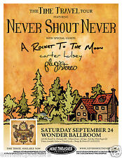 """NEVER SHOUT NEVER / A ROCKET TO THE MOON 2011 """"TIME TRAVEL TOUR"""" CONCERT POSTER"""