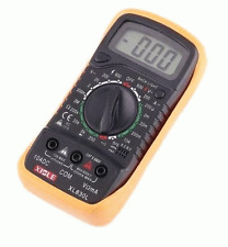 New Premium Professional Digital Electric Multimeter + Cables + 9V Battery