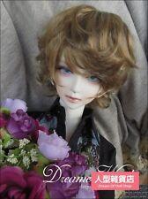 "BJD Doll Hair Wig 8-9"" inch 20-22cm dark brown 1/3 SD DZ MK DOD LUTS Perma-short"