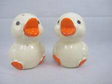 Vintage Quacking Ducks Salt & Pepper Shakers Japan