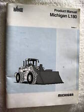 1992 MICHIGAN L180 END LOADER TRACTOR BROCHURE BOOK