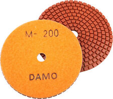 "4"" Wet Diamond Polishing Pad Grit 200 for Granite/Concrete/Marble Countertop"