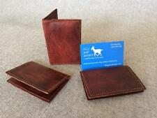 Handmade Goat Leather credit business card wallet WCC Billy Goat Designs