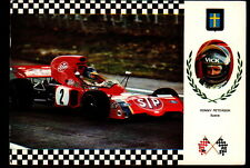 AB2024  SPORT AUTO RACING F1 RONNY PETERSON MARCH FORD ESCUDO 47  POSTCARD