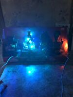 """Lighted Animated Musical Christmas Tree Train   Mantle LED SANTA's Express 16"""" L"""