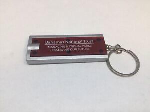 BAHAMAS NATIONAL TRUST Promo Keychain Key Ring Mini Flash Light Porte-Clés