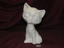 Ceramic Bisque Big Eye Eyed Cat U-Paint ~ Ready to Paint