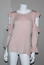 NWT KARL LAGERFELD Womens Pink Cold Shoulder Top Size S