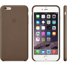 Genuine Official Apple iPhone 6 Plus / 6s Plus Leather Case - Brown - MGQR2ZM/A