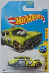 2017 Hot Wheels HW CITY WORKS 4/10 Time Attaxi 92/365 (Neon Green Version)