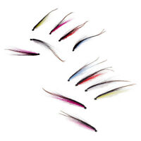 12Pcs Artificial Feather Sea Trout Tube Fly Needle Tube Salmon Flies 25/50mm