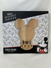 Disney Mickey Mouse Cheeseboard and Tools Set Cutting, Brand New Unopened Box