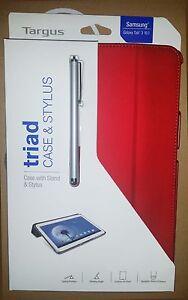 """Samsung Galaxy Tab 3 - 10.1"""" Targus Triad THZ202US-50 CASE & STYLUS - Red"""