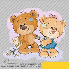 Cute Teddy Bear Boy Girl Love Vinyl Sticker Decal Window Car Van Bike 2075