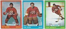 7 1973-74 TOPPS HOCKEY ATLANTA FLAMES CARDS (QUINN/MYRE/BENNETT+++)