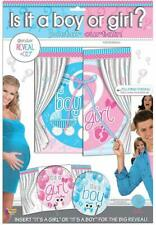 Gender Reveal Pink Blue Baby Shower Party Supplies Decoration Poster Curtain