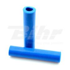 15423 Manopole bici 100% silicone fissaggio standard lungo 135mm colore blu
