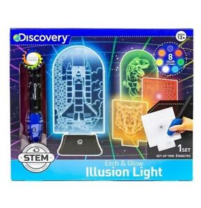 Discovery Color Changing Etch & Glow Illusion Light Motorized Engraver Pen STEM