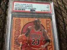 1995 Fleer Flair Hardwood Leaders #4 Michael Jordan PSA NM 7 Fresh Slab Beauty