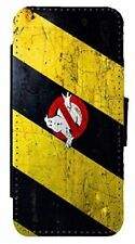 Ghostbusters Inspired Ghost Grunge Leather Flip Case Cover For iPhone & Samsung