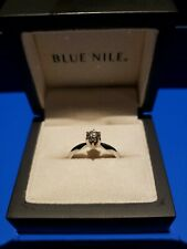Blue nile engagement ring .52 carat white gold six prong solitaire