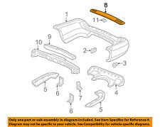 Acura HONDA OEM 01-06 MDX Rear Bumper-Step 71510S3VA00