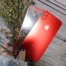 New Pure Color Titanium Alloy Tempered Glass Front&Back Protector For iPhone X