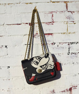 Coach Disney Mickey Mouse x Keith Haring Madison Shoulder Bag 4722 NWT