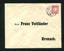 Bayern  - Privatganzsache Nürnberg nach Kronach  (X-2)
